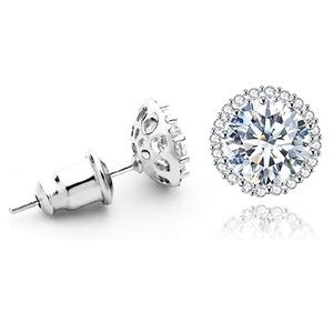 Platinum Plated 1CT Cubic Zirconia Earrings
